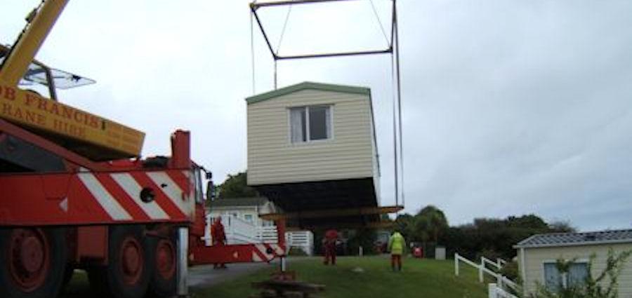 Installing a static caravan