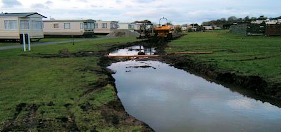 Groundworks on a static caravan park
